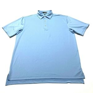 Peter Millar Summer Comfort Short Sleeve Blue Golf